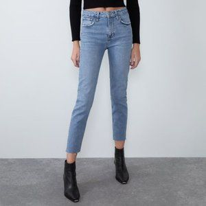 Zara Slim Fit High Rise Jeans